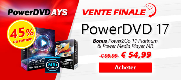 PowerDVD 17 - COUPON : olitech10